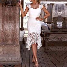Xnxee Summer Bodycon Dress Bodycon Elegant Knee Length Sleeveless Solid Sleeveless