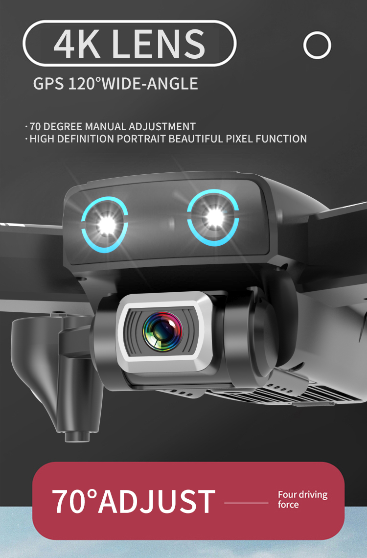 S167 Drone 4K Wide Angle Adjustable Camera