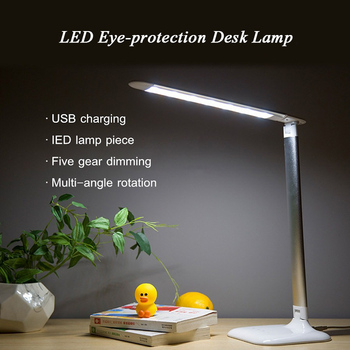 LED Desk Lamp 7W Energy Saving Folding Rechargeable With USB Port Table Lights GY108 Touch Dimming Eye Protection Desktop Lamps