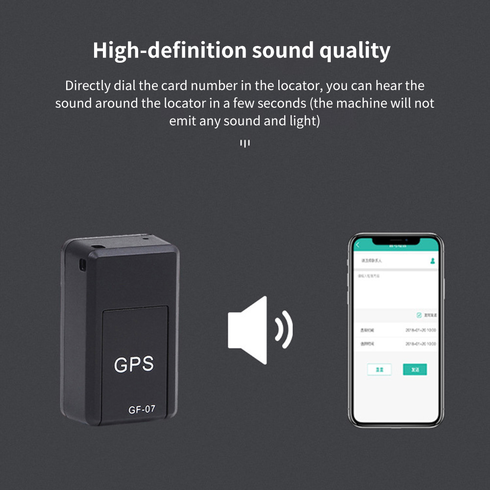 Mini gps rastreamento rastreador app controle anti-perdido