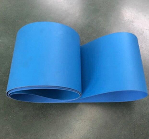 2000x200x2 мм pu полиуретановый синий конвейер пищевой Антибактериальный