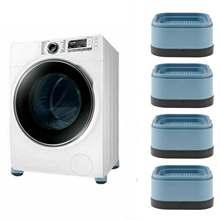 4 pieds carrés tampons Anti vibrations piédestaux pour Machine à laver anti-dérapant meubles tapis Support choc laveuse sécheuse bas tapis