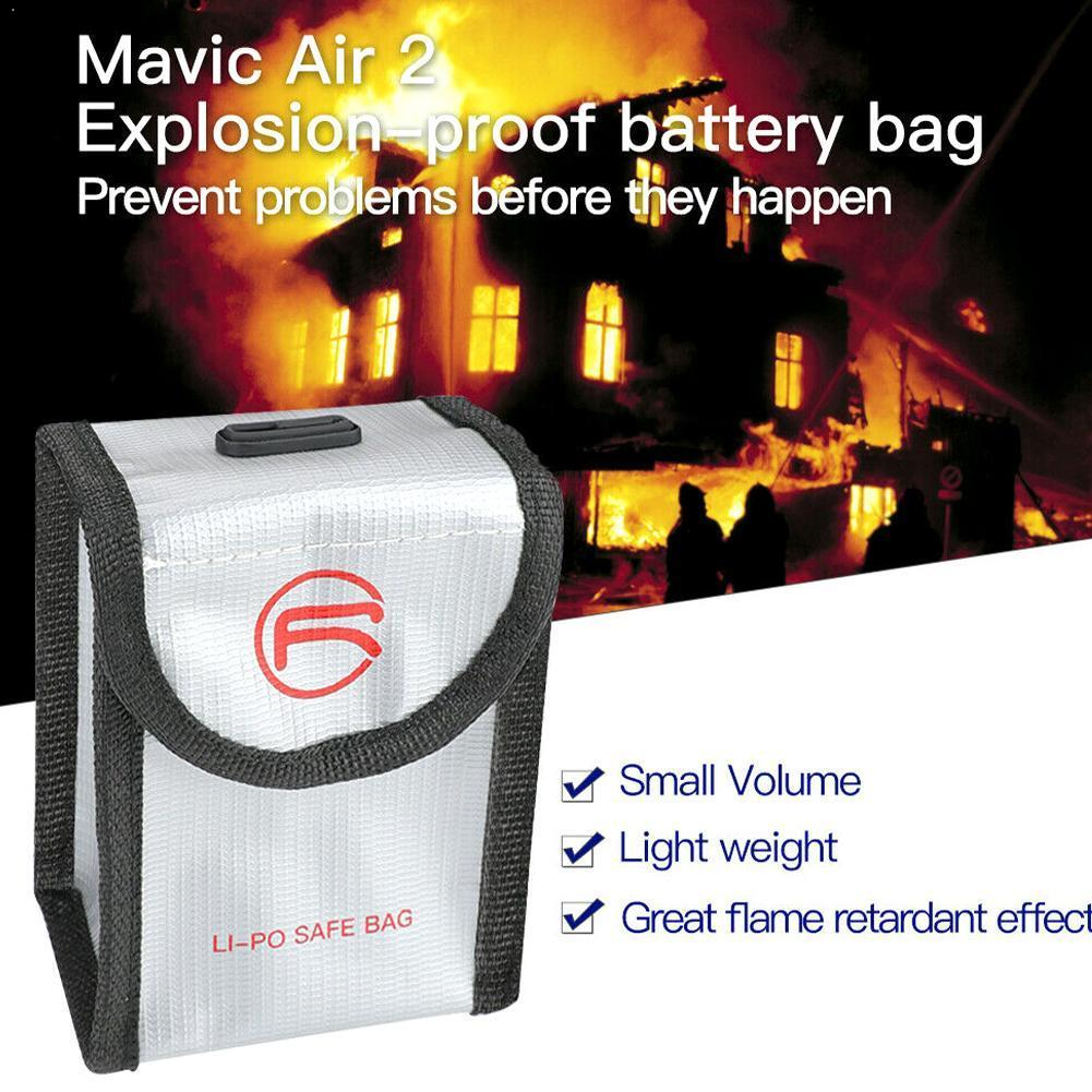 Upgraded For DJI Air 2 LiPo Safe Bag Explosion-proof Storage Mavic Battery Bag Drone Protective Air Accessories 2 For DJI P V9R5
