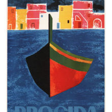 Procida, póster de viaje VINTAGE, Mario Puppo Italia, 1960 pinturas al óleo, impresiones en lienzo, arte de pared para la decoración del dormitorio y la sala de estar