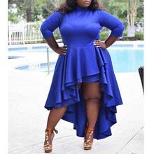 Plus Size Dresses For Women 4XL 5XL 6XL Bright Blue 2020 Lad