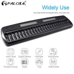 Image 4 - PALO 12/14/16/24/48 slots Fast Smart Intelligent charger AA AAA battery charger for 1.2V AA AAA NiMH NiCD rechargeable battery