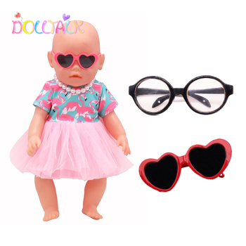Doll Accessories Fashion Sunglasses Hairpin For 18 Inch&43 Cm Bebe Reborn Baby Clothes Our Generation Toys Unisex
