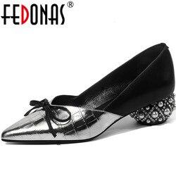 FEDONAS/высокое качество; женские блестящие вечерние туфли-лодочки с бантом-бабочкой; вечерние туфли-лодочки; сезон весна-лето; необычные женск...