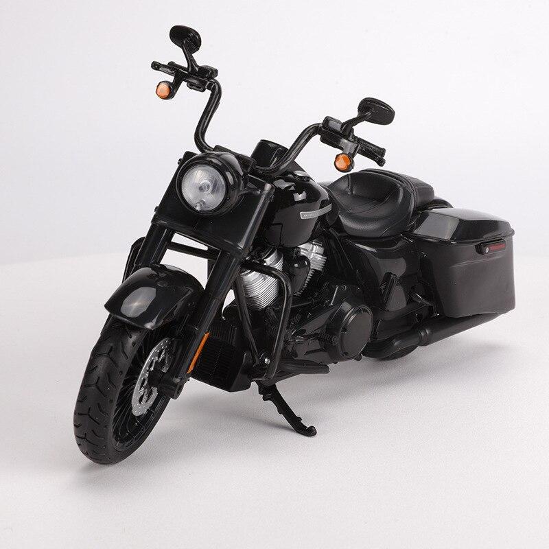 Maisto 1: 12 Harley Tough Guy Große Gleiten Road King Motorrad Modell Legierung Modell Spielzeug Sammlung-in RC-Autos aus Spielzeug und Hobbys bei title=