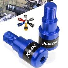 LOGO XMAX pour Yamaha X MAX XMAX X-MAX 250 2009-2019 2012 2013 2014 2015 2016 poignée de moto embouts de guidon poignées fin