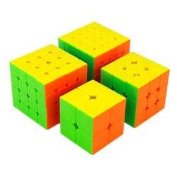 Moyu Meilong 2x2 3x3 4x4 5x5 Wettbewerb Magie Cube Set 4 stücke cubing Klassenzimmer Geschwindigkeit Würfel Puzzles Spielzeug Für Kinder