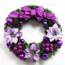 50cm Artificial Christmas Wreath Merry Decorations For Home Hanging Wall Decoration Tree Decor