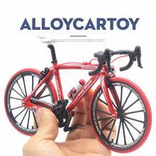 1:10 масштаб сплав литья под давлением металлический велосипед дорожный велосипед Модель велосипедные игрушки для детей Подарки Игрушки транспортные средства для детей