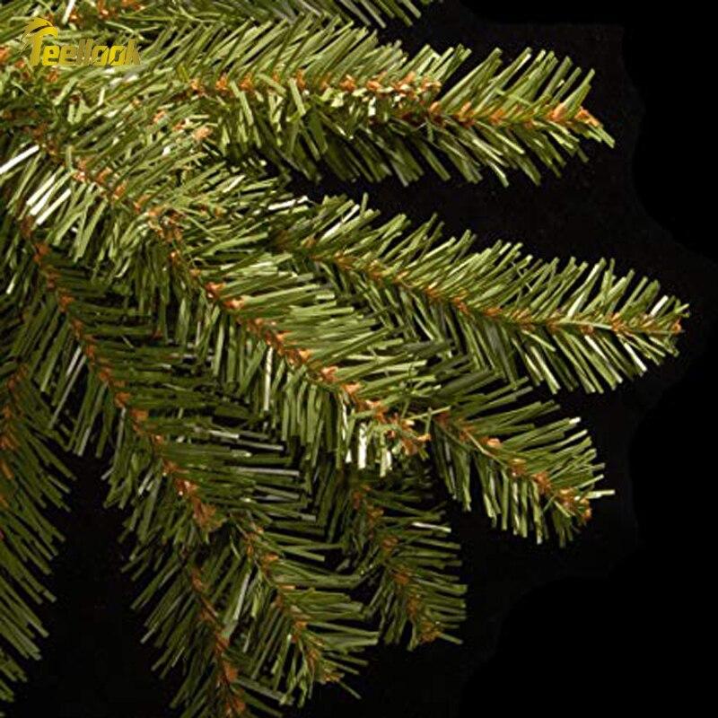 Teellook новый год 1,2 м/3,6 м Новый ПВХ материал Рождественская елка рождественский отель торговый центр украшение дома - 2