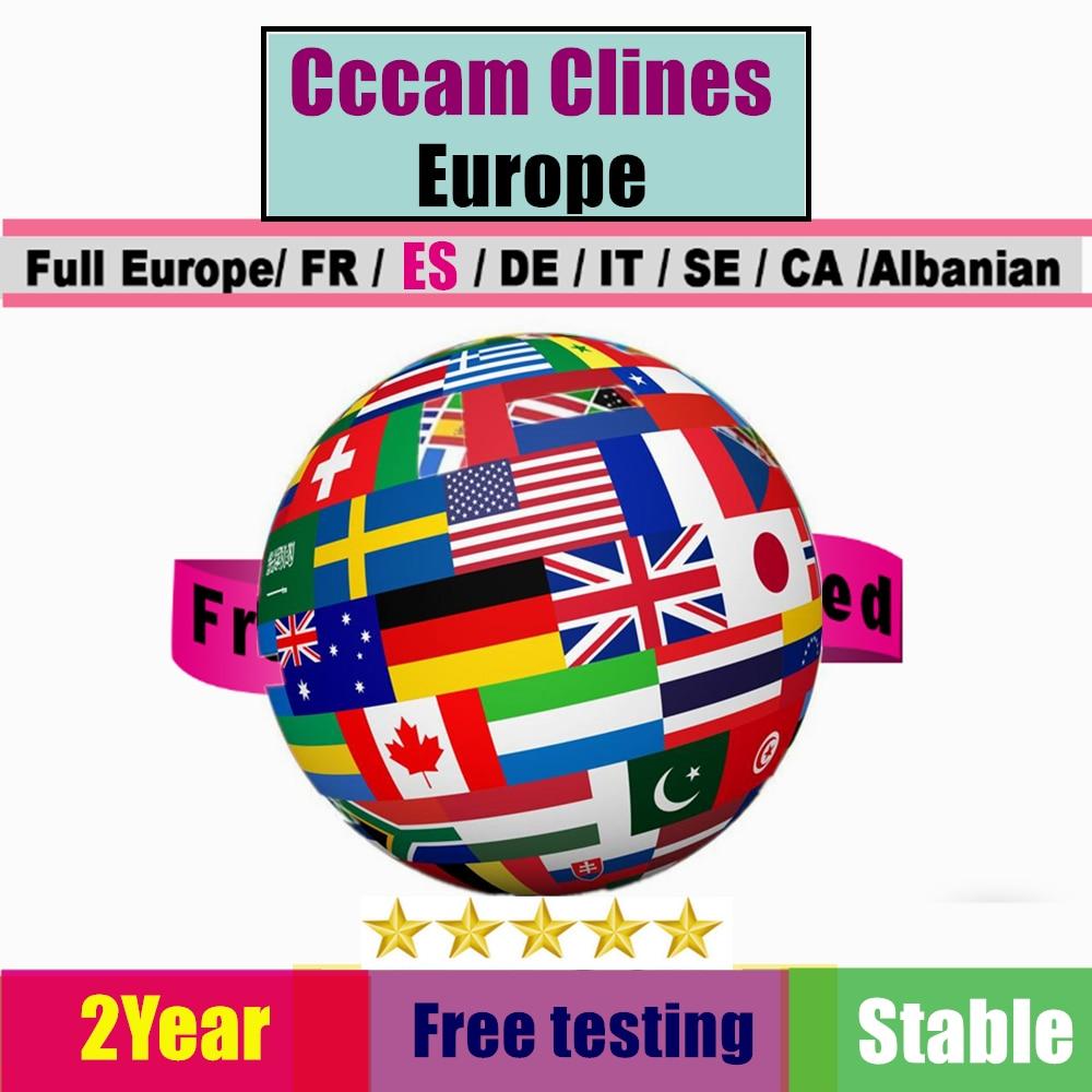 2year 7 Clines Cccam Portugal For Spain Oscam Germany DVB S2 Decodificador Tv Satelital Gratis Ccam Dazn Satellite Tv Receiver