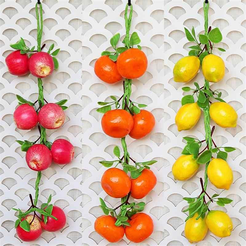 SUEF boerderij decor PU rode peper fake lemon kunstmatige imitatie keuken tuin art decoratie woondecoratie accessoires @ 3