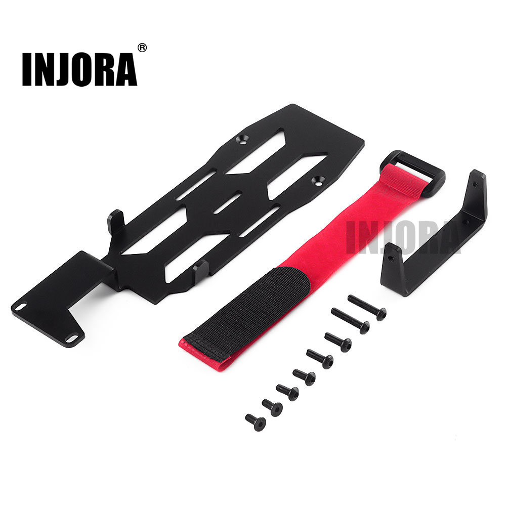 INJORA RC Car Metal Battery Mounting Plate Tray For 1/10 RC Crawler Car TRAXXAS TRX-4 TRX4