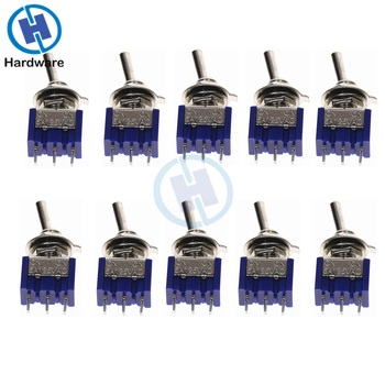 10PC/5PC Miniature Toggle Switch Single Pole Double Throw SPDT (MTS102) ON-ON 120VAC 6A 1/4 Inch Mounting MTS-102 - discount item  3% OFF Electrical Equipment & Supplies