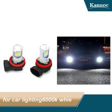 2 sztuk H8 LED Auto światło przeciwmgielne żarówki 750 lumenów 6000K Xenon biały wymień światło przeciwmgielne dla BMW E60 E61 E63 E64 E92 X5 E90 X6 E82 E87 E89 tanie tanio 12 v 3030 6000K white