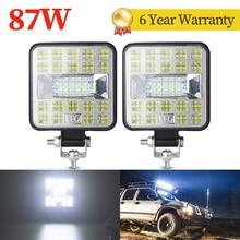 87W LED Work Light 12V 24V DRL Spot Flood Combo 4WD Offroad Car Working Lights Led Work bar for Truck Bus SUV ATV Motorcycle led
