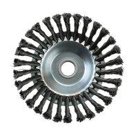 Weed escova junta giratória torção nó aço fio roda escova disco 25.4x200mm paisagismo & corte irrigação máquinas accessaries|Automação predial| |  -