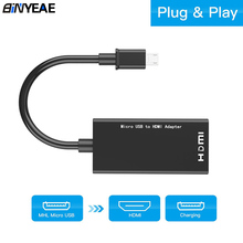 For Type C & Micro USB To HDMI Adapter Digital Video Audio Converter Cable HDMI Connector For Laptop Phone With MHL Mirror Cast