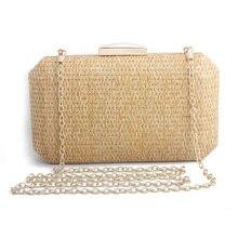 Straw Bag Clutches Purse 2019 New Fashion Women Shoulder Summer Travel Beach Luxury Handbags Bags Designer Wallet