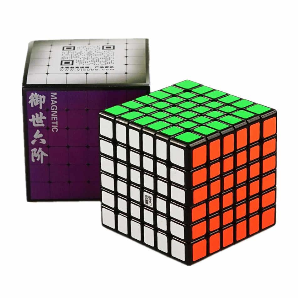 YJ Yushi 6x6x6 V2M магический Магнитный скоростной куб v2 M Профессиональный Магнитный скоростной пазл 6x6 обучающая игрушка для детей подарок для детей