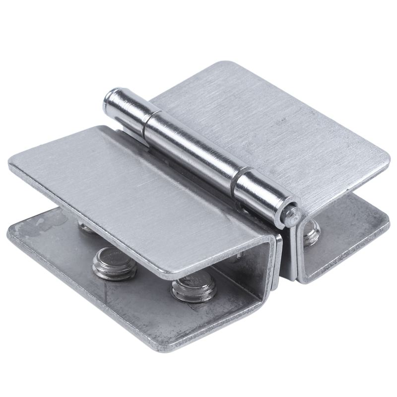 New Shower Door Stainless Steel Glass-to-Glass Clamp Clip Hinge for 8mm - 10mm Glass