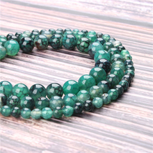 Hot Sale Natural Stone Green Dragon Agate Beads 15.5 Pick Size: 4 6 8 10 mm fit Diy Charms Beads Jewelry Making Accessories