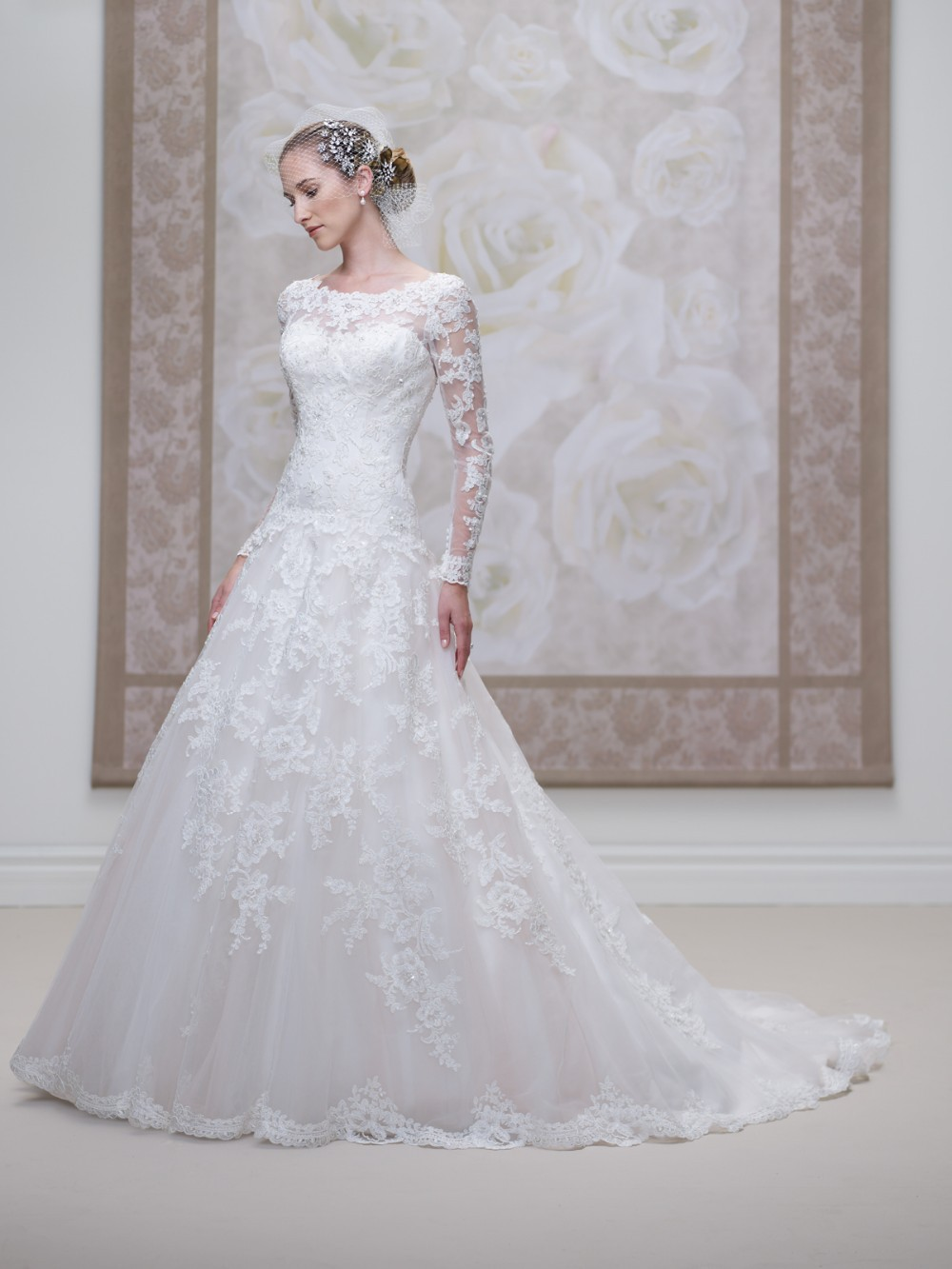 New Fashion Scoop Neckline Lace Applique Beading A-line Fabric Dropped Waist Bridal Gown 2018 Mother Of The Bride Dresses