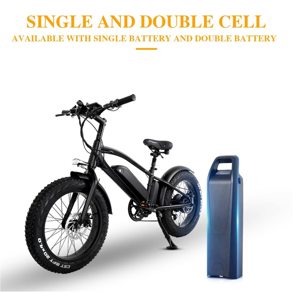 Ebike 750W 48V10ah Doppia batteria della bici di montagna elettrica 4.0 fat tire spiaggia Bicicletta Elettrica E-bike bicicletta Elettrica della bici