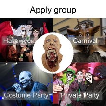 Horror Zombie Latex Mask Holiday Party Supplies Halloween Costume Props Decorative