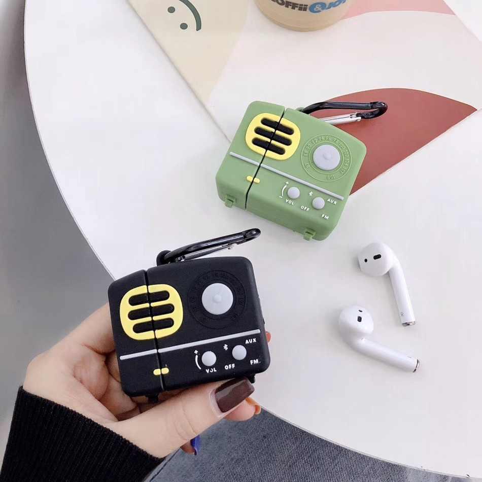 Чехол для ТВ приставки наушников Airpods 2 чехол силиконовый с милым котом Apple Air pods 1