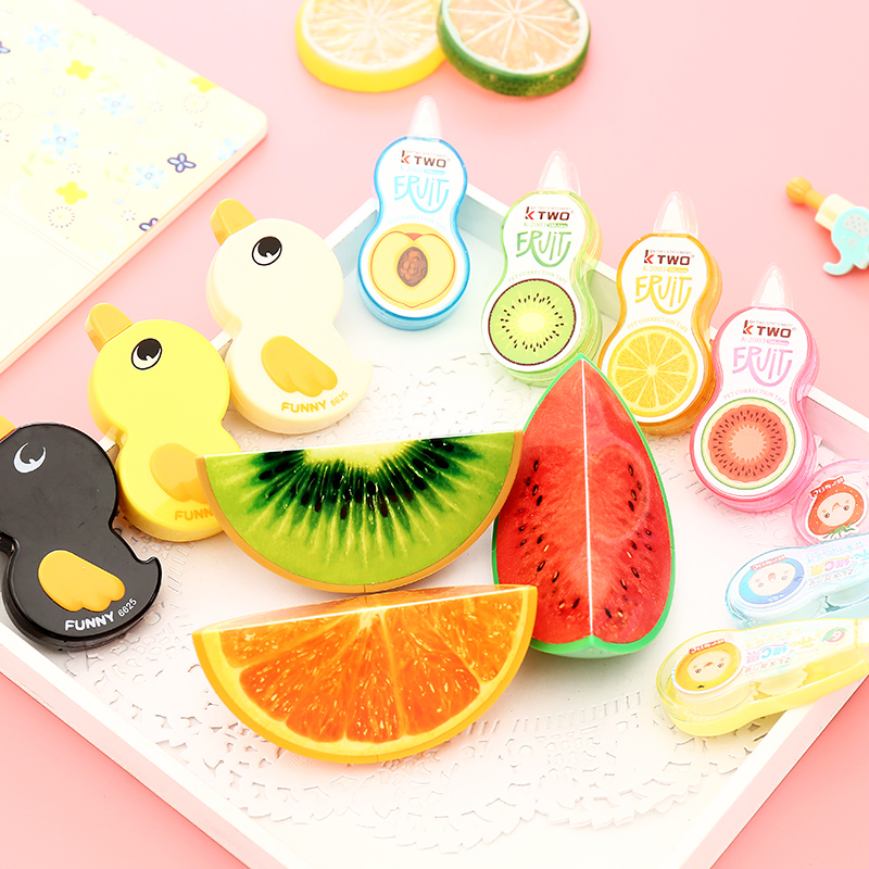 1pcs Novelty Cute Correction Tape Kawaii Multi-function Correction Supplies Student School Office Stationery Christmas Gift