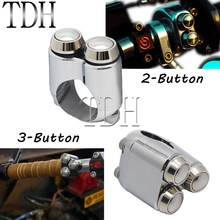 Motorcycle 22mm 25mm Handlebar Switch Turn Signal Light Horn Hand Control 2/3 Button Switch for Harley Yamaha Chopper Bobber