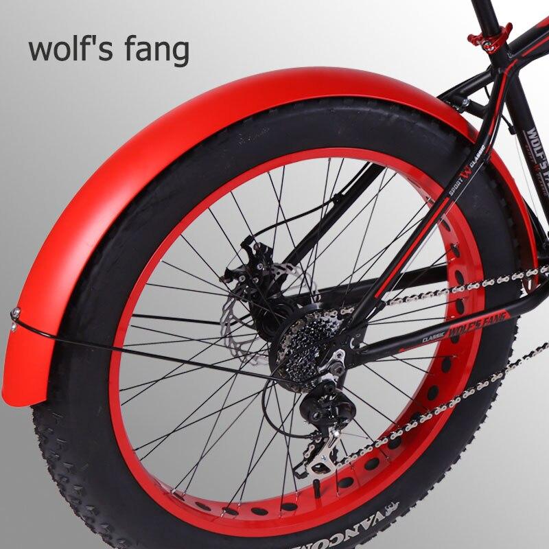 זאב של פאנג Snowmobile אופניים כנפי אופניים פנדר אגף אופני ברזל חומר חזק עמיד מלא כיסוי שלג אופני משלוח חינם