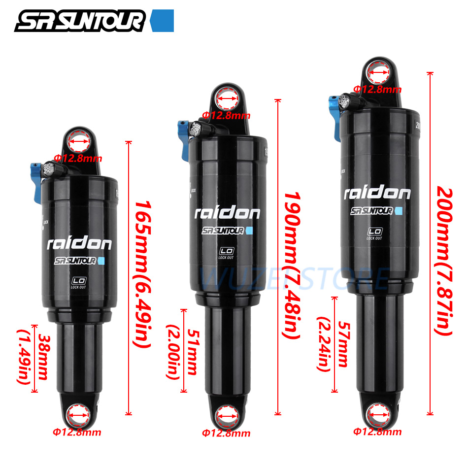 SR SUNTOUR Downhill MTB Bike Bicycle Rear Suspension Air Shock Absorber Hydraulic Speed Lock Out Rear Shock Bicycle Parts