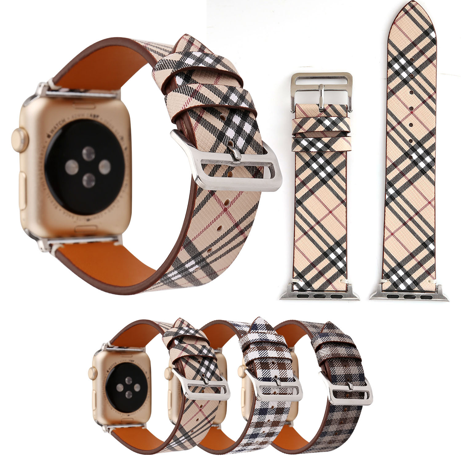 For Apple Watch Leather Watch Strap APPLE Watch Leather Watch Strap Fashion Pattern IWatch Leather Watch Strap