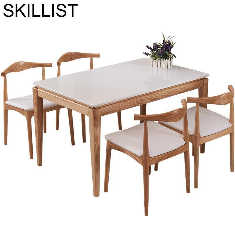 Marmol Tafel Set Kitchen Tisch Sala Escrivaninha Yemek Masasi Retro Wood De Jantar Bureau Tablo Mesa Comedor Dining Room Table