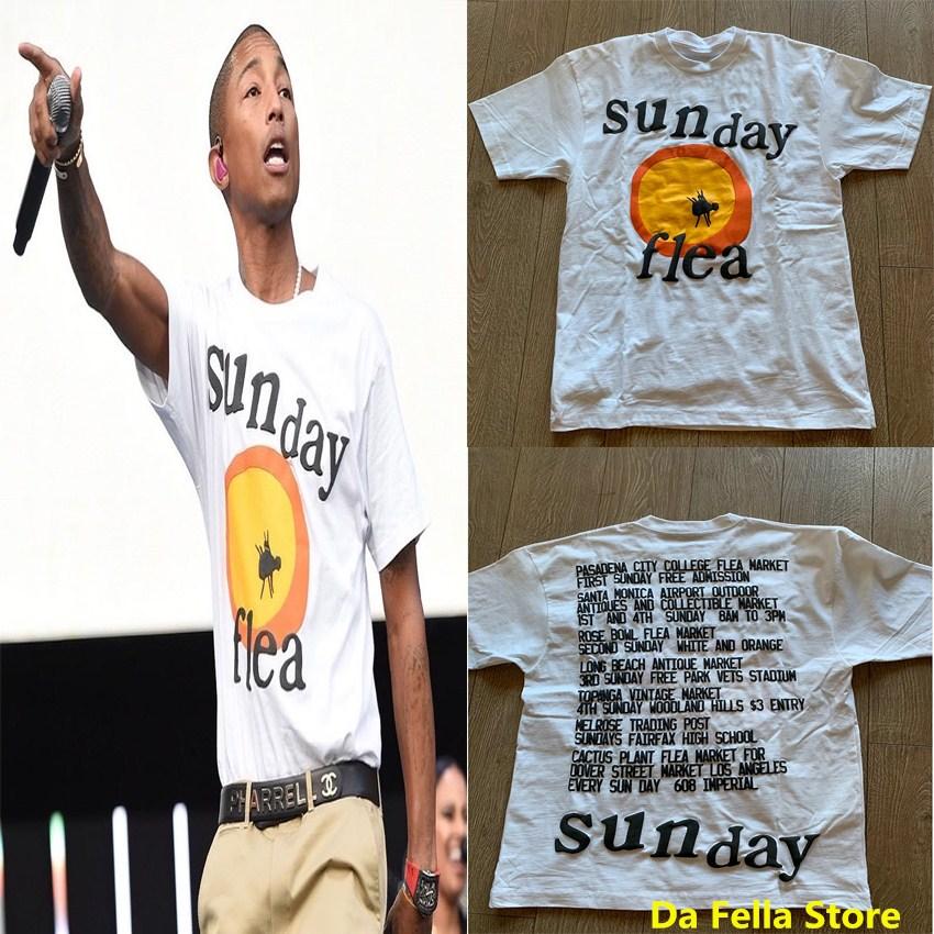 Sunday Flea T-shirt CPFM XYZ Grand Opening Sunday FLEA MARKET Tour T-shirts Men Women 3D Foam Print CPFM Tee Pharrell Williams