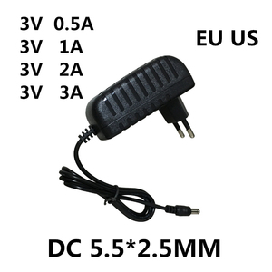 1 шт. AC/DC адаптер DC 3 в 0.5A 1A 2A 3A AC 100-240 В адаптер питания 5 Вольт 1000 мА зарядное устройство EU US Plug