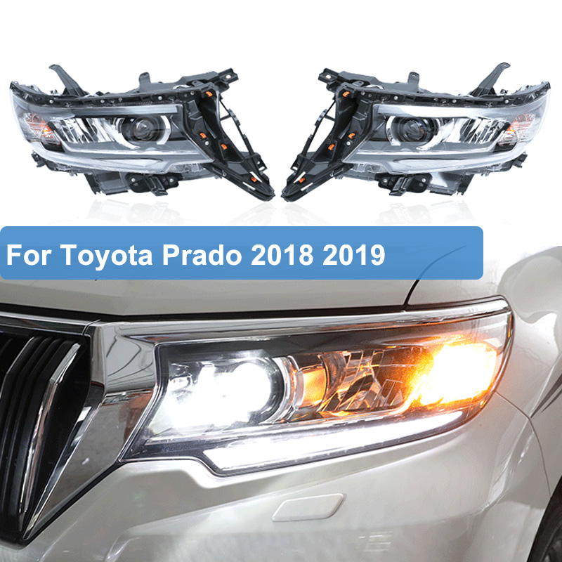 Car Styling LED Headlight For Toyota Land Cruiser Prado FJ150 LC150 2018 2019 LED DRL Dynamic Turn Signal Head Lamp Assembly