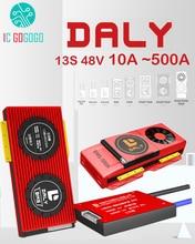 DALY 13S 48V 리튬 이온 리튬 배터리 보호 보드 밸런스 eBike 충전 방전 18650 Lipo BMS 15A 30A 50A 60A 80A 100A 200A