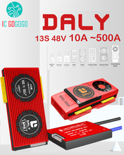 DALY 13S 48V литий ионный аккумулятор Защитная плата баланс eBike зарядка разряда 18650 Lipo BMS 15A 30A 50A 60A 80A 100A 200A