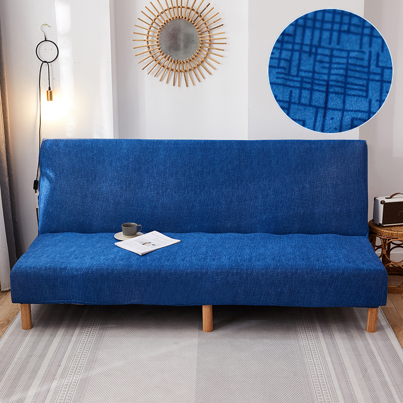 All-inclusive Sofa Bed Cover Stretch Couch Cover for Foldable Armless Seat Couch Bench Protector Elastic Slipcover