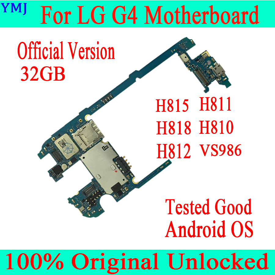 For <font><b>LG</b></font> G4 <font><b>H815</b></font> H811 H818 H810 H812 VS986 Original Unlocked <font><b>Motherboard</b></font> 32GB With Android System Logic MainBoard image
