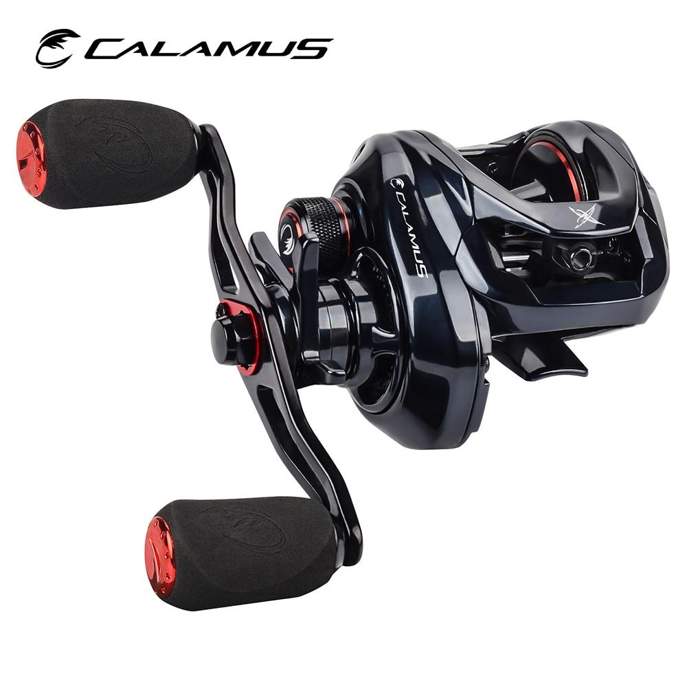 Calamus X2 катушка для Пресноводной рыбной ловли, Графитовая рамка 7,2: 1 Шестерни Соотношение 8 кг сопротивления 190g Вес Алюминий ручной отливки Ры...
