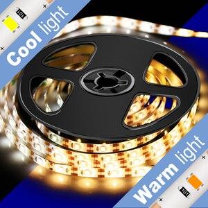 Luz LED para armario de cocina Sensor de movimiento tira LED resistente al agua PIR LED cinta de luz 5 V escritorio armario lámp