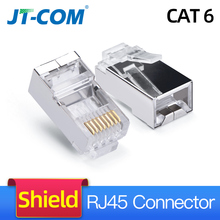 100PCS Cat6 RJ45 Connector 8P8C Modular Rj-45 Network Cable Connector Adapter for Cat5e Cat6 Rj 45 Ethernet Cable Plugs Heads цена и фото